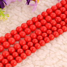 fashion 8mm Red coral beads loose gemstone beads