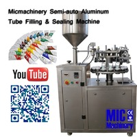 Best Option Micmachinery semi-auto tube filling and sealing machine for metal tube with aluminum tube folder