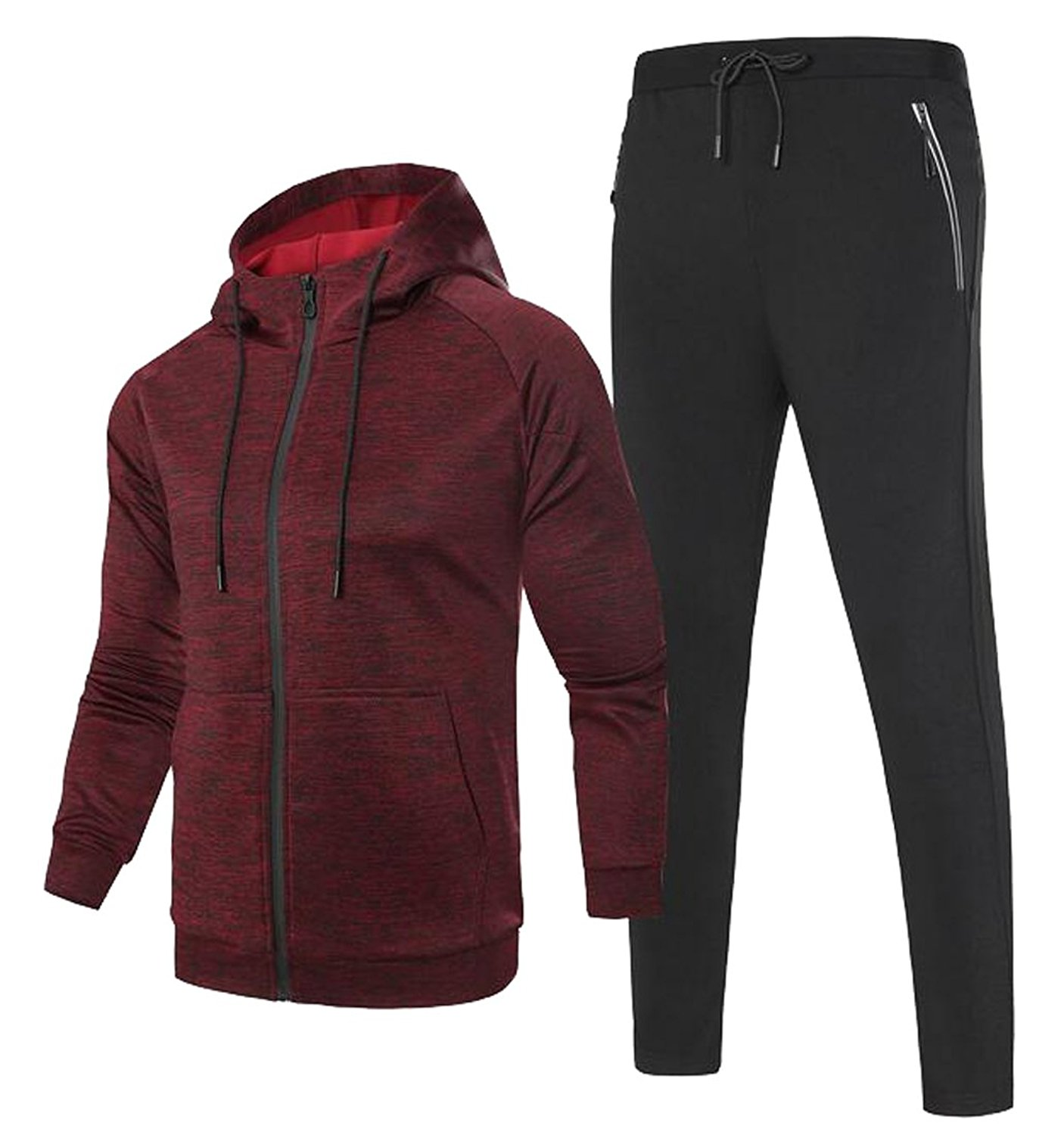 ONTBYB Mens Bodybuilding Hoodie Casual Sport Running Jogger Pullover