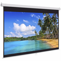 Matte White Fabric Motorized Electric Projection Projector Screen