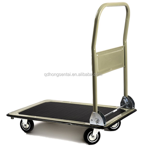 330Lbs foldable platform hand truck folding dolly push hand trolley moving house cart ph150