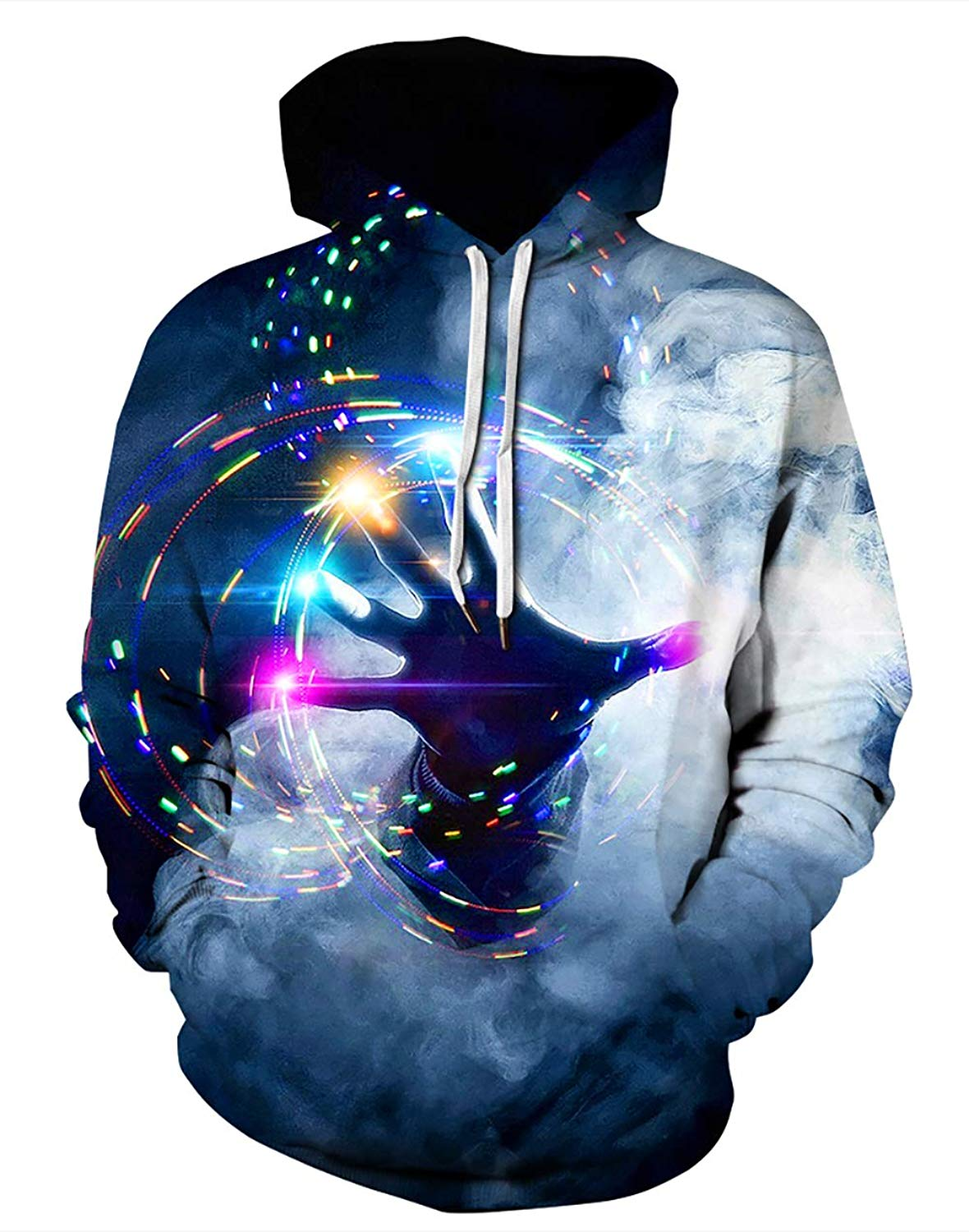 60aff9df54f8 Get Quotations · Zegoo Unisex Mens Hoodies Sweatshirt 3D Print Colorful  Galaxy Pullover Halloween Costume