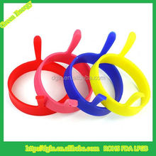 Non-stick cooking handle silicone round fried egg ring, Pancake ring mould boiled egg tool