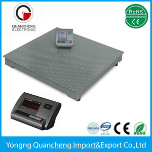Electronic grain weighing scale / 2 tons weighing floor scale