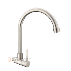 Cold Water Brass Body Wall Faucets For Bathroom Sinks