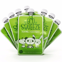 Eco-Friendly stand up baby food spout pouches for organic food