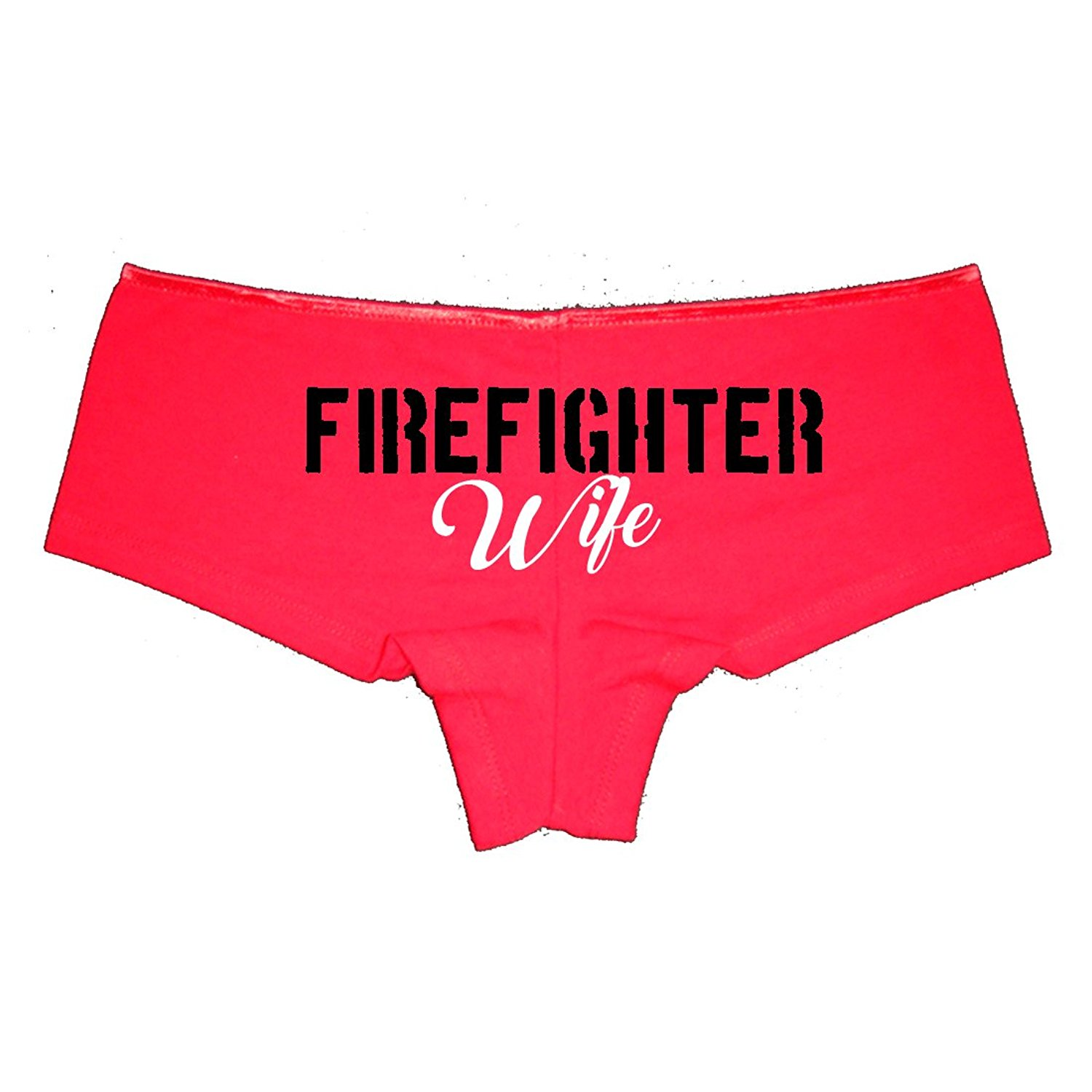 Get Quotations · My Husband Is My Hero - Firefighter Wife Sexy Booty Shorts  Boyshort Panties