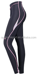 lady cycling long bib pants with high grade material