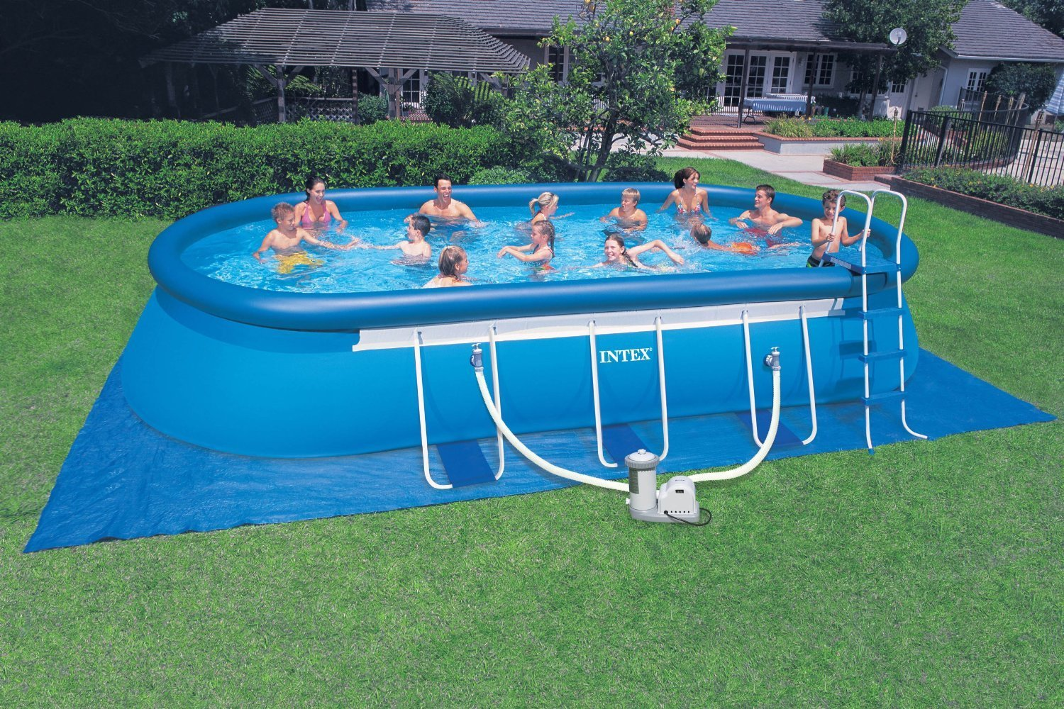 Buy Intex 57981eg 20 Feet By 12 Feet By 48 Oval Frame Pool