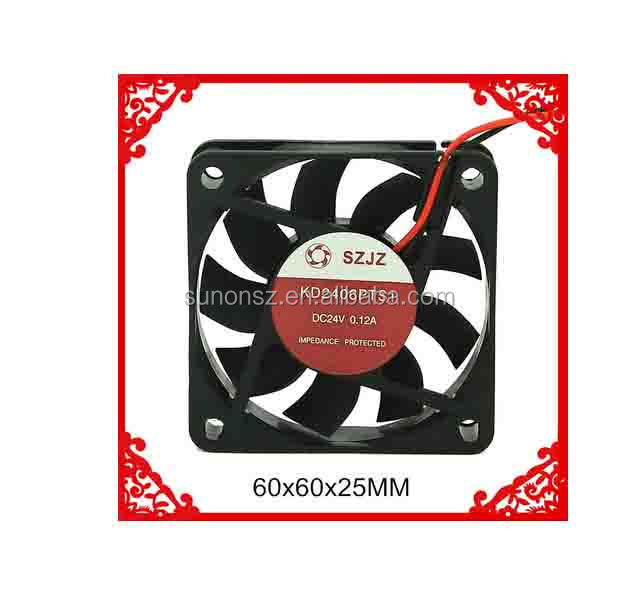 Electronic Component 24v DC Exhaust Fan / Axial Flow Cooling Fan