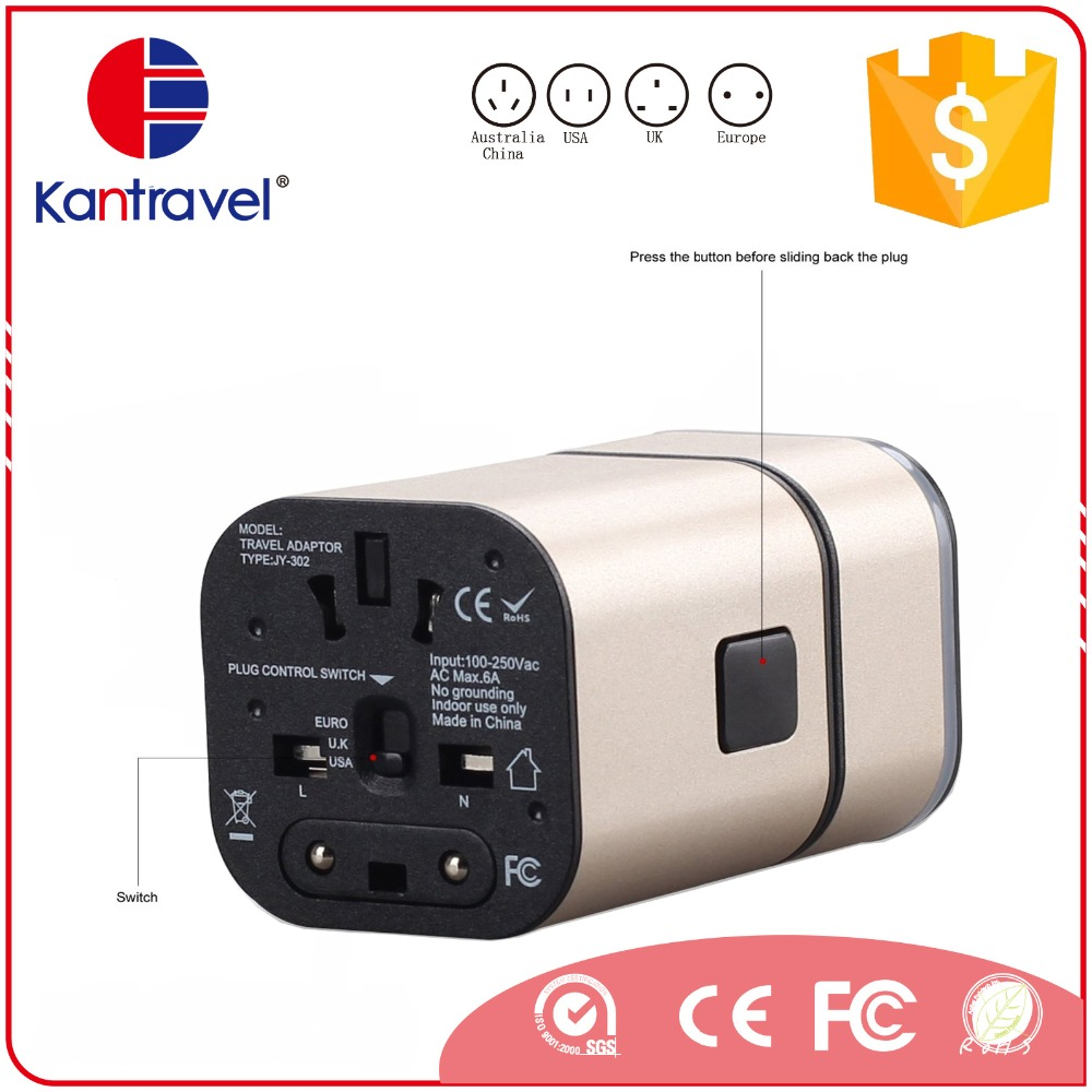 Manufacturers/suppliers/exporters <strong>Promotion</strong>/business gift Convenient to carry 2usb universal travel adapter