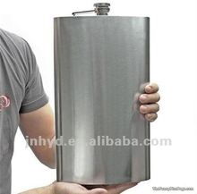 mirror grinding stainless steel 20oz hip flask