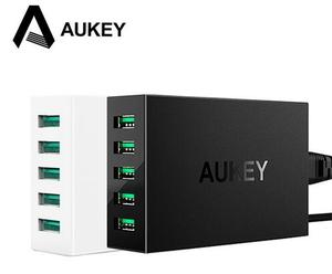 Aukey 50W/10A 5 USB Port Wall Charger Universal Mobile Phone Charging Station With AlPower Tech
