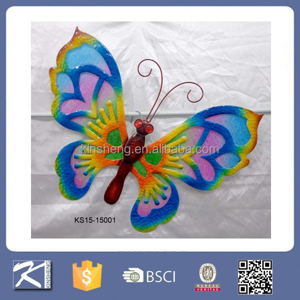 Artificial outdoor garden decorations butterfly wholesale decorative metal wall art