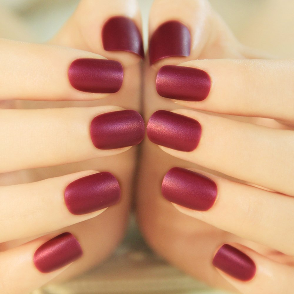 Buy enForten False Fake Nails French Manicure Pretty Nail Designs ...