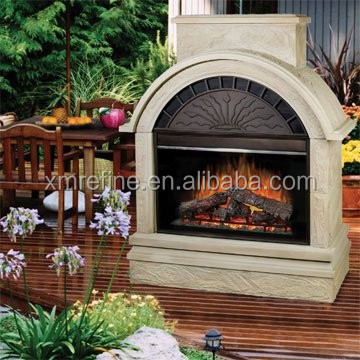 freestanding beige engineered stone grainy round wal-mart electric fireplaces