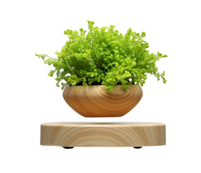 Electronic levitation pots floating pots for air bonsai for Levitating plant