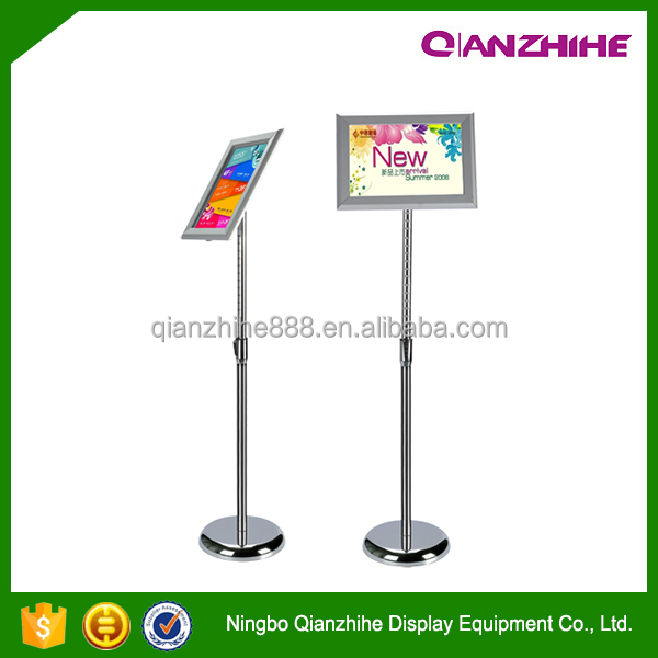 Aluminum floor standing menu display stand
