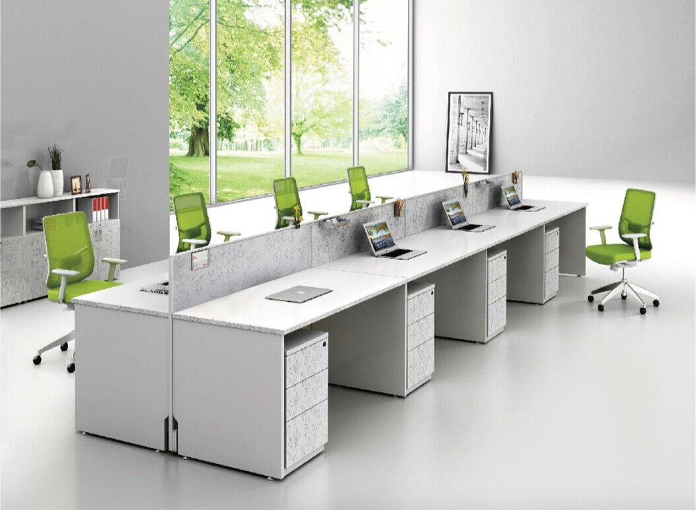 Screen Modular Office Furniture Parion And Workstation For 6
