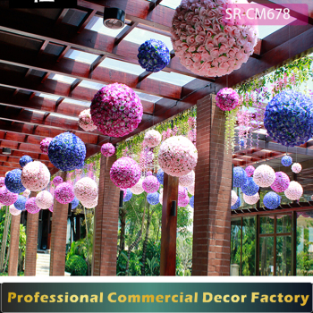 Shopping Mall Giant Flower Ball Decoration For Spring Summer And