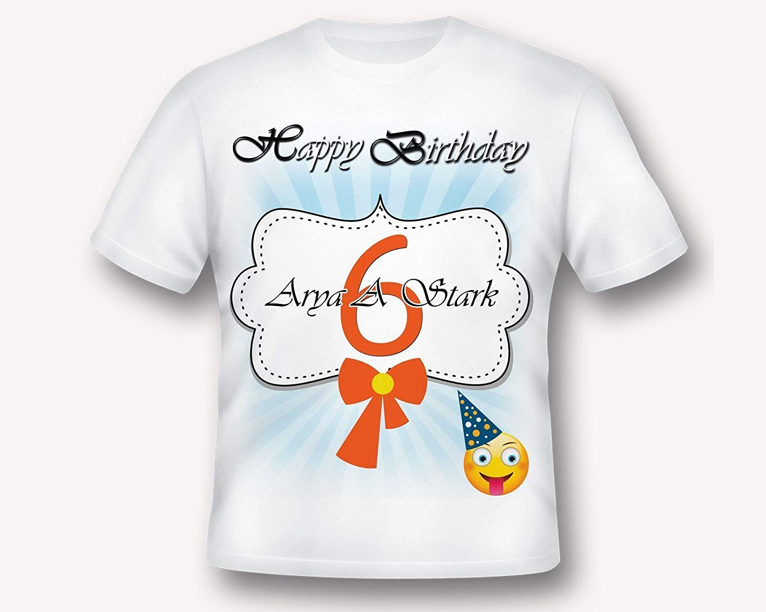 Custom Emoji Birthday T Shirt Tee Printed