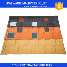 Twice sandblasting process keeping Wante shingle roof tiles with no sand dropping during 50 years warranty