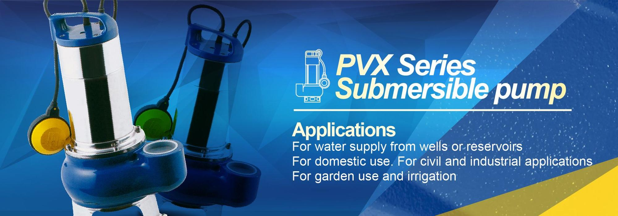 PVX Waste Water Recycle Stainless Steel Impeller Submersible Pump
