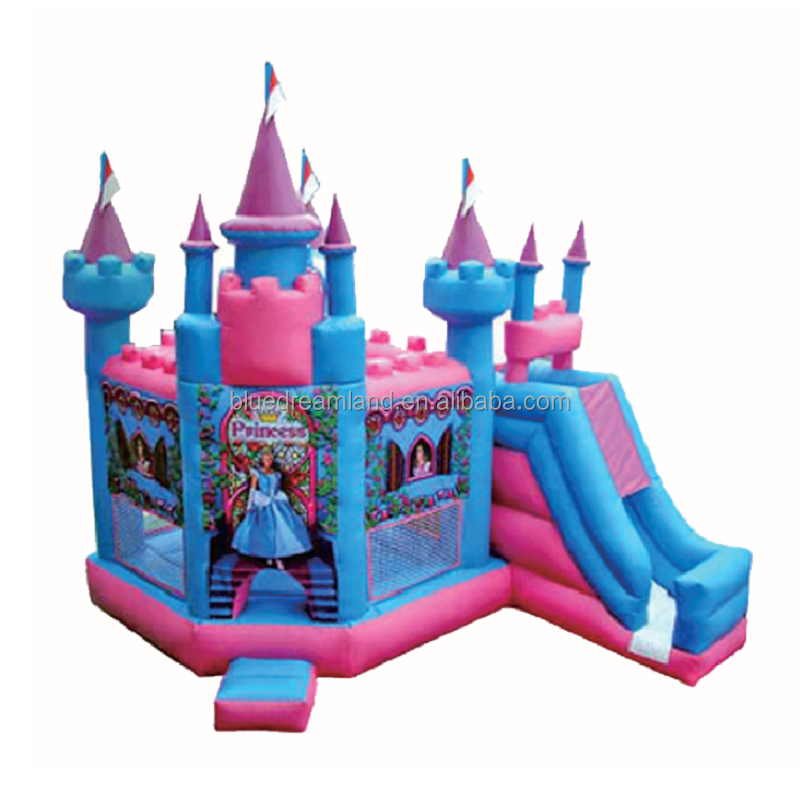 Cheap commercial princess inflatables inflatable bouncer toy with slide