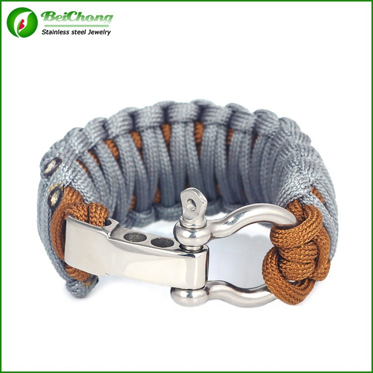 Newest design personalized military braided cheap survival bracelet