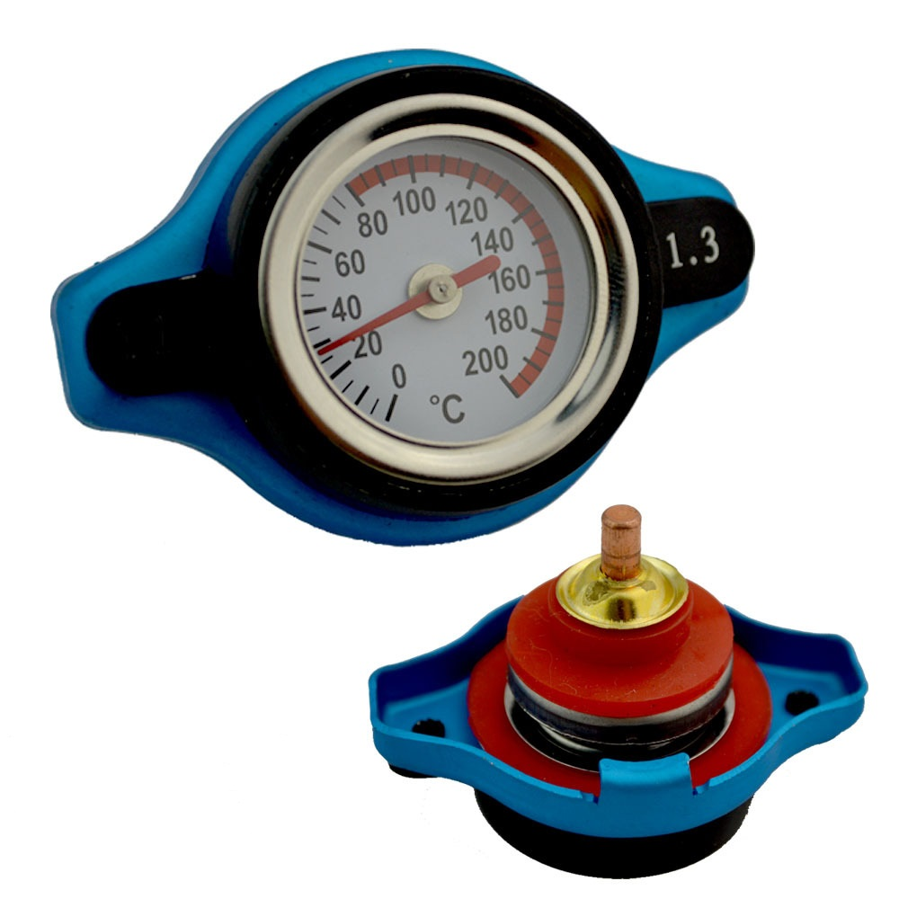 Universal Thermo Thermostatic Radiator Cap Cover with Water Temperature Gauge