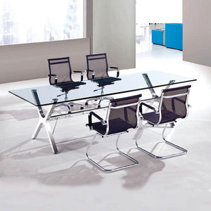 2015 modern glass meeting table and boardroom conference table