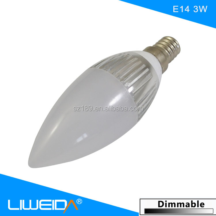 Hight Brightness 3000K/4000K/6000K Color Temperature 3W UL E12 Candelabra LED Bulb