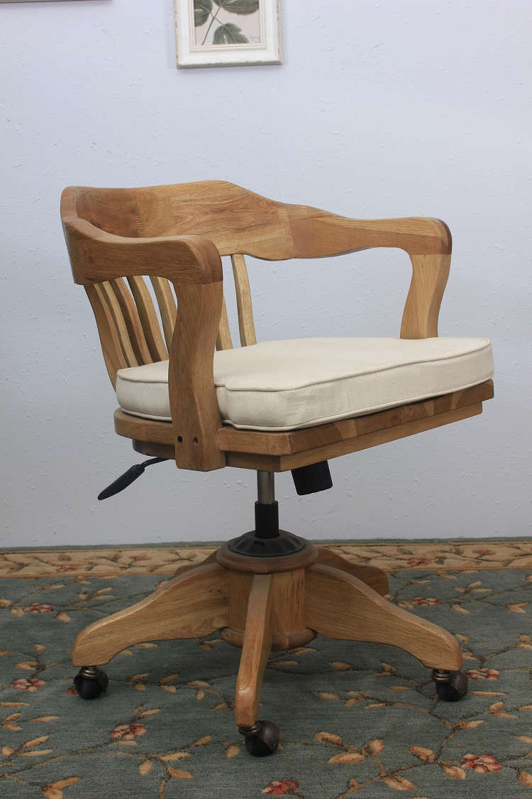 Living Room Furniture Antique Vintage Style Upholstery Desk Chair