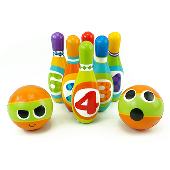 Indoor Sport Toys Mini PU Plastic Bowling Set With Balls