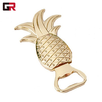 Metal Cast Iron Wedding Magnet Pineapple Shape Stainless Steel Bar Beer Customized Bottle Opener