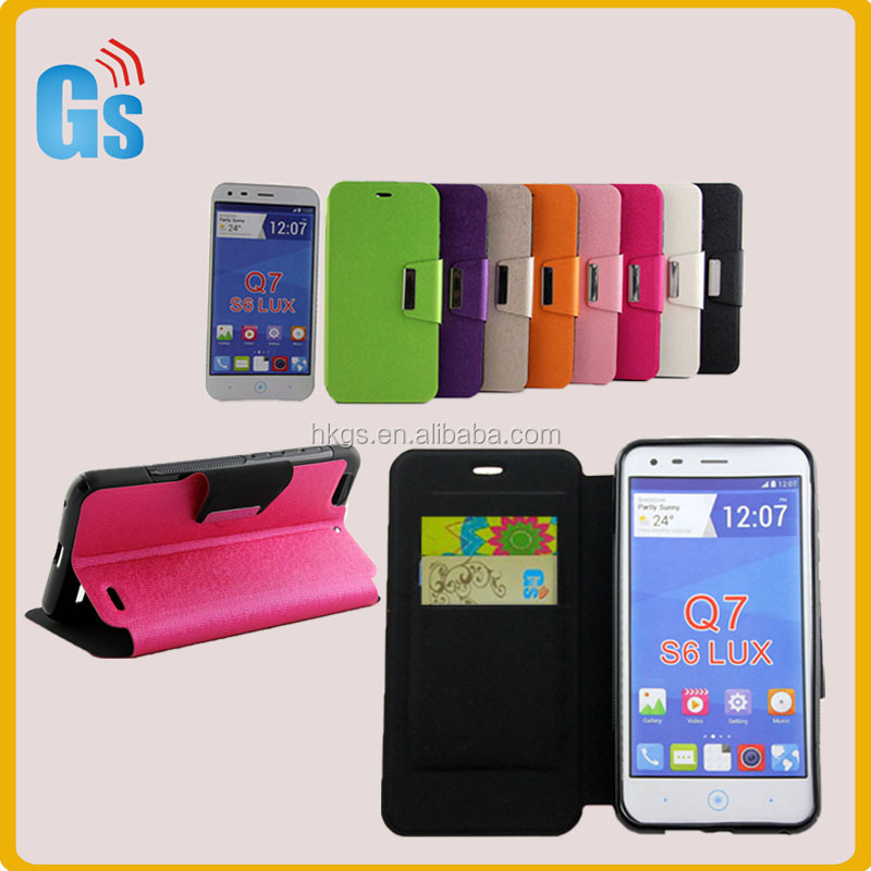 Luxury Card Slots Leather Flip Case Phone Accessory For Zte Blade S6 Lux Q7