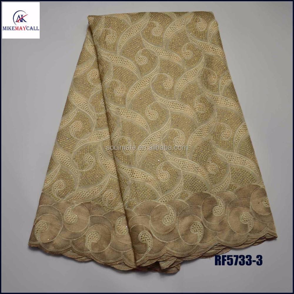 Хлопчатобумажная ткань с вышивкой