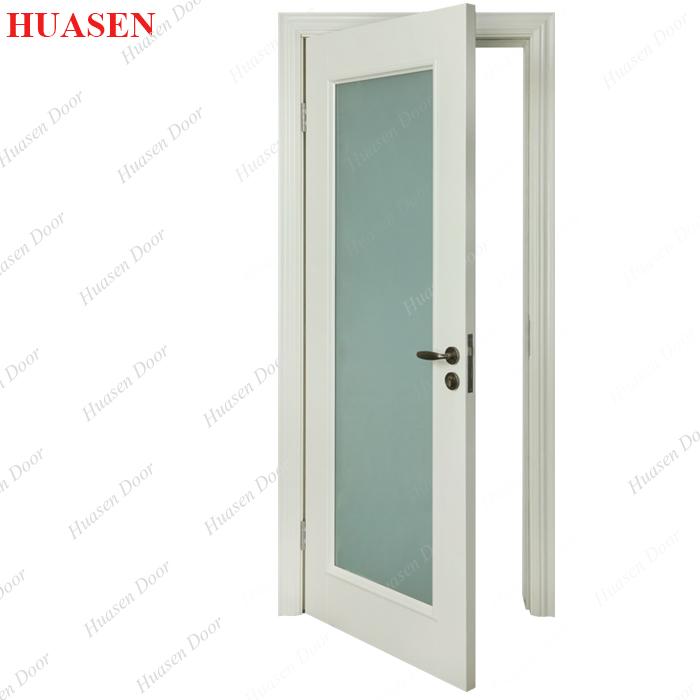 White Wooden Bathroom Door on