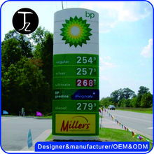 Casting Craftsman .Free Standing metal pylon sign pricing for gas station