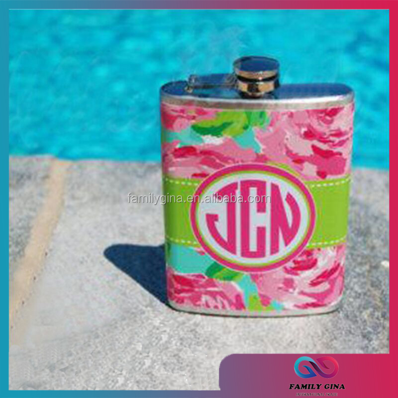 New Arrival Popular Lilly Pulitzer Inspired Metal Flasks