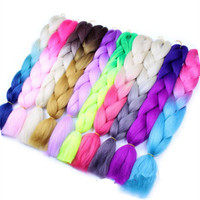Xuchang Ombre color jumbo braiding hair,cheap ombre hair extension,jumbo braid 100 synthetic braiding hair
