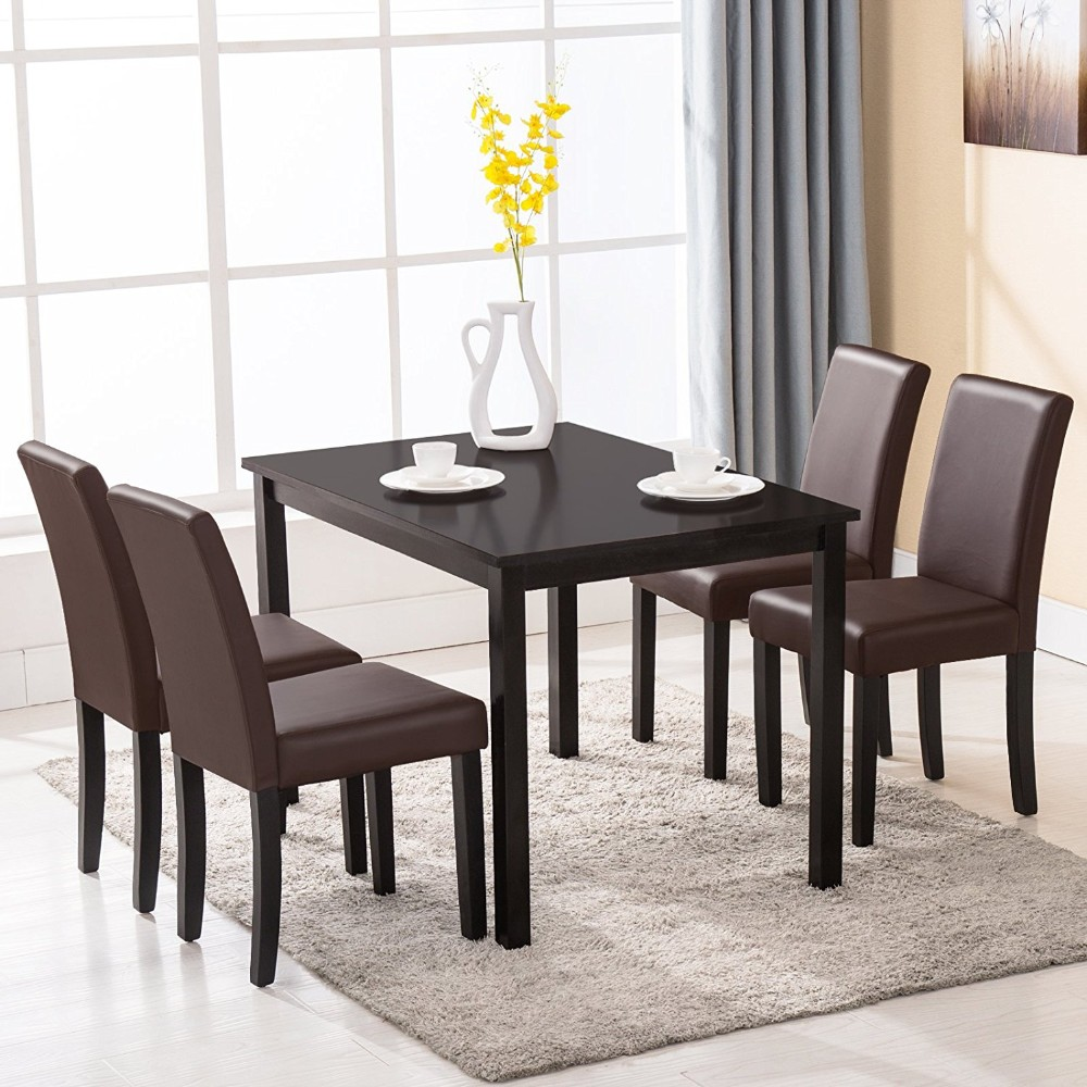Wooden Dining Table Set: One Table And 4 Upholstered Chairs Alibaba Malaysia Used