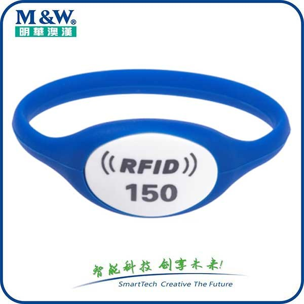 green waterproof/ high temperature,/cold Silicone RFID Wristbands