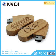 Hot Selling Wood pendrive Swivel USB Flash Drive Promotion/Christmas Gifts