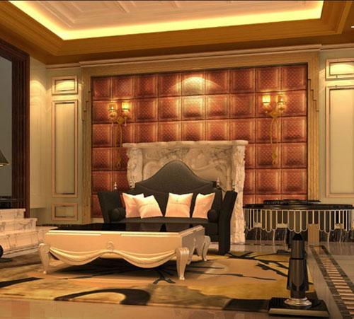 GLM Leather wall panel Interior decoration stucco wall panels New HOT products bring you new profit