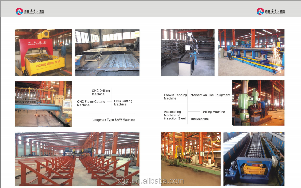 Low cost light steel structure workshop/warehouse/villa