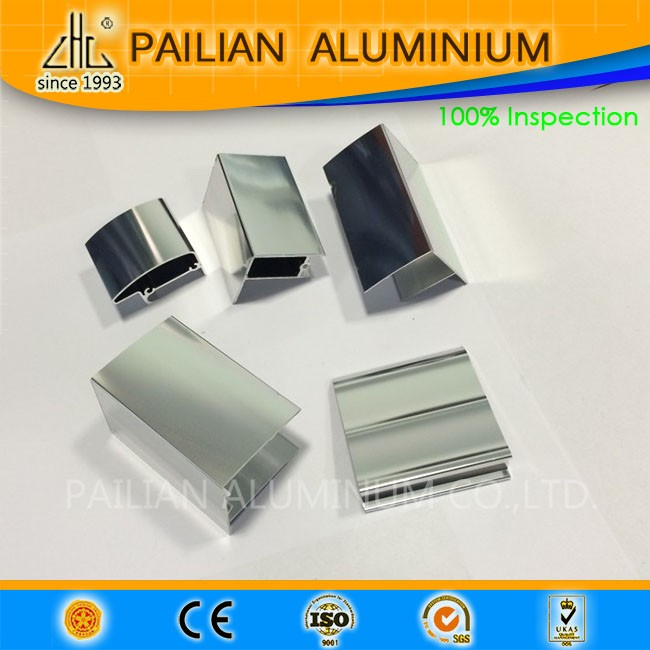 6063 6463 mirror polished German aluminium bathroom profiles , aluminium shower enclosure extrusions for German market