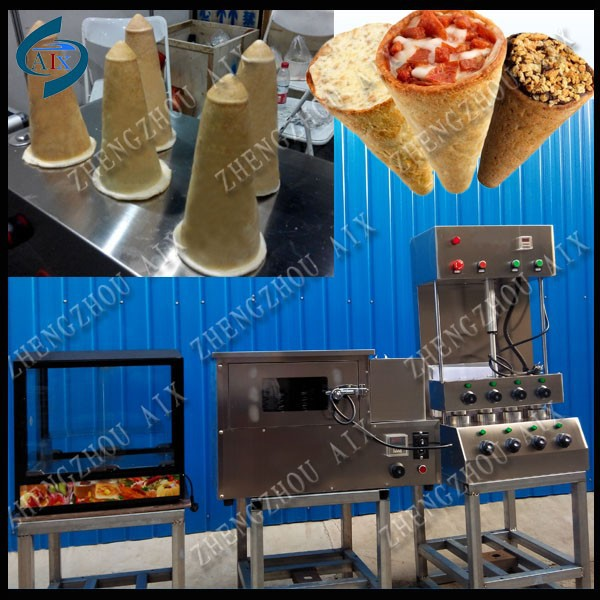 Whole sets of pizza cone vending machines for sale/wholesale pizza cone machine