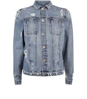 High Quality Ripped Slim Fit Denim Jacket Men Motorcycle Bomber Jean