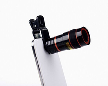 Universal 8X Optical Zoom Telescope Camera Mobile Phone Lens For sony z z1 z2 z3 z4 z5 compact mini glass + metal lenses